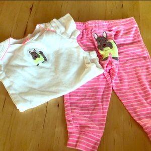 Pink Puppy Onsie & Pant Set